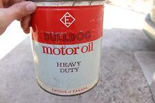 Vintage Eatons of Canada Bulldog Motor Oil 1 Gallon Can Advertising