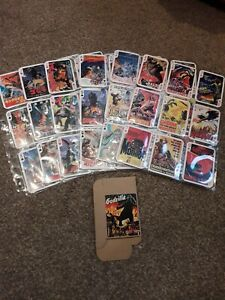 Godzilla set of 52 vintage playing cards mint condition with box