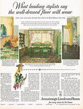 1920's BIG Vintage Armstrong's Linoleum Flooring Period Interior Art Print Ad d