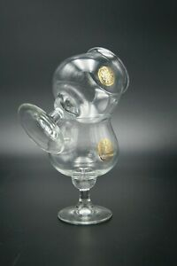 CHARTREUSE LIQUOR PAIR OF 2 CRYSTAL GLASSES GOLD AMBASSADOR 27cl FRANCE BRANDY