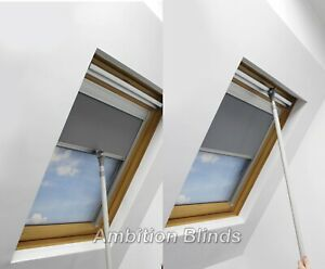 BLACKOUT ROLLER ROOF BLINDS AND ROOF RODS FOR OPTILIGHT WINDOWS EASY FIT