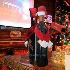 Merry Christmas Decoration Wine Bottle Cover Gift Wrap Party Decor Red scar