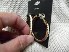 NWT Adelington Jewelry nickel free white fashion hoop pierced earrings