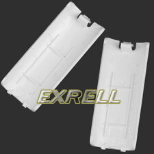 2 X Battery Back Door Shell Cover for Wii Remote Controller Geme White