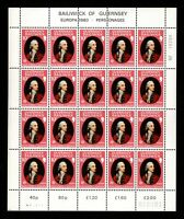 Guernsey, Sc #207-08, Sheets, MNH, 1980, Europa, Saumarez, Gaspard Le, FX-A