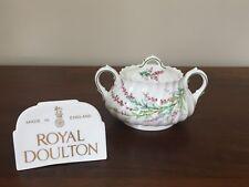 Royal Doulton BELL HEATHER SCALLOPED Sugar Bowl & Lid