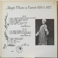 MAGDA OLIVERO In Concert 1979 & 1977 LP w/ Garrick Ohlsson – Private Press