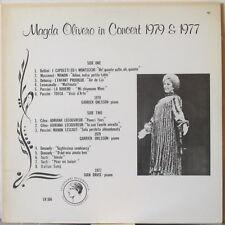 MAGDA OLIVERO In Concert 1979 & 1977 LP w/ Garrick Ohlsson – Private Press