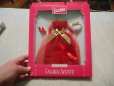 NEW! Barbie Fashion Avenue Eveningware Red  Evening Gown