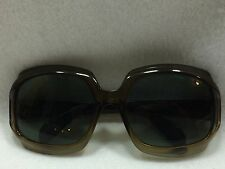 Vintage Womens B&L Ray-Ban Sunglasses Large Amber Smoke Canada Repaired