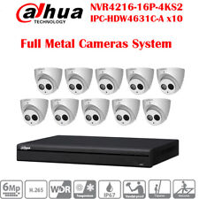 Dahua 16CH 16POE SECURITY CCTV SYSTEM 4TB 6MP H.265 BUILT-IN MIC IPC-HDW4631C-A