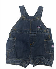 Girls Toddler Carhartt Overalls Sz 18 Mo Denim Embroidered Flowers