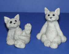 More details for quarry critters * second nature design * 2 small cat figurines * carl & clyde *