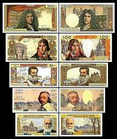2x  5, 10 ,50, 100 , 500 Francs - Issue 1959 - 1966 - Reproduction - 04
