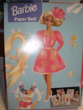 NEW 1993 Mattel Golden Barbie Paper Doll set