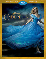DISNEY CINDERELLA(BLU-RAY+DVD+DIGITAL HD)NO SLIP COVER FREE SHIPPING