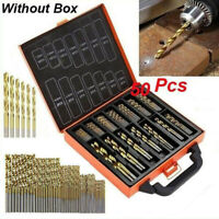 50pcs Drill Bit Set Titanium Coated HSS High Speed Steel Hex Shank Quick Change