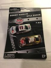 1:87 NASCAR AUTHENTICS 2019 1/87 11 DENNY HAMLIN 18 KYLE BUSCH 2 CARS WAVE 2 NEW