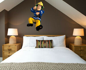 3D Fireman Swing Sam Patrol Childrens Wall Stickers Bedroom Decal