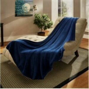 SMALL THROW SOLID SOFT BED BLANKET MICRO-PLUSH COMFORT FLEECE SUPER WARM
