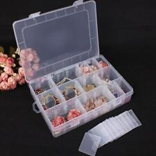 Plastic 24 Compartments Fishing Lure Bait Hook Tackle Storage Box Case Container