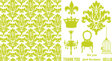 LIFESTYLE CRAFTS LETTERPRESS DAMASK PRINTING PLATES  L-PP-005-ED QUICKUTZ