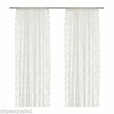 """IKEA ALVINE SPETS - Pair of Lace Curtain Window Panels Sheer Off-White 57 x 98 """""""