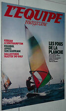 L'EQUIPE MAGAZINE N°13 1980 KEEGAN SAINTS RUGBY BEZIERS RIGUIDEL PLANCHE VOILE