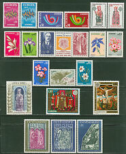 Fr Andorra 1972-1975: #210/237-21 MLH Stamps; Europa, Religion - Lot #4/16