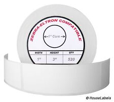 "100 Rolls / 520 Labels of 1x3 (1"" x 3"") Direct Thermal Zebra Eltron Labels"