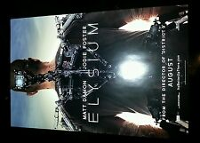 "Elysium original movie poster 17"" x 11"" Matt Damon"