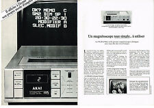PUBLICITE ADVERTISING  1983   AKAI    magnétoscope  (2pages)