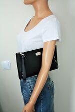 MICHAEL KORS Tasche/Clutch black CIARA GROMMET XL WRISTLET PLQ Leder