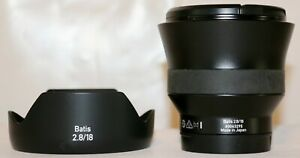 Zeiss Batis SONY 18mm F/2.8 Distagon T* (for SONY E mount) + Hood MINT Condition