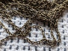 Antique Bronze Cable Link Chain 3mm x 2mm - Available in 2m 5m or 10m