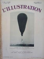 L' ILLUSTRATION No 4669 . 27 aout 1932 . Piccard vers la stratosphère .