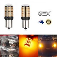 BAU15S Amber 144 LED Ultra Bright Turn Signal Indicator No Hyperflash Bulb Globe