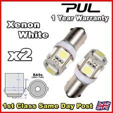 2x T11 5050 SMD BA9S 5 LED White Car Wedge Side Light Bulb Lamp 12V