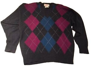 Alan Paine Nordstrom Ugly Christmas Sweater Mens Size 46 England Lambswool