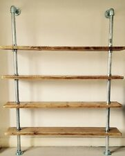 Industrial Chic Scaffold Pipe & Board Shelving Unit 120cm X 180cm (h)