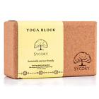 Sycory Yoga Block – Cork Yoga Block – Made in Portugal – Eco-Friendly 23x14x9cm