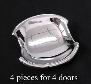 4 DOOR CHROME HANDLE INSERT FOR TOYOTA HILUX MK6 SR5 VIGO 2005 - 2012 07 08 09
