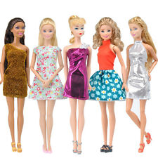 E-TING 5Pcs Mini Dress Skirt Casual Clothes Dating Wear Outfit for Barbie Doll A