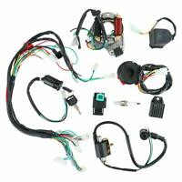 CDI Wiring Harness Ignition Coil Rectifier Switch Kit for 50cc-125cc Motorcycle