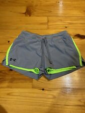 Girls Size Large Under Armour Shorts Gray Green