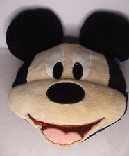 """New listing Disney Store Authentic Mickey Mouse Head Plush Pillow Face Large Stuffed Toy 18"""""""