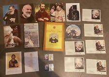 PADRE PIO maxi lotto RELIQUIA BEATIFICAZIONE benedetto da Papa Giovanni Paolo II