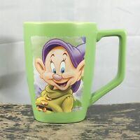 Disney Store Oversized 18 oz Dopey Snow White And The Seven Dwarfs Green Mug