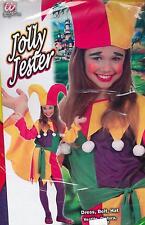 ABITO, Costume di CARNEVALE, JOLLY JESTER ( 8-10 ANNI -140cm.) WIDMANN JACK