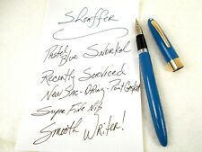 Vintage SHEAFFER'S Fountain Pen ~ BLUE 1950's SNORKEL New Sac & Seals ~ ExC